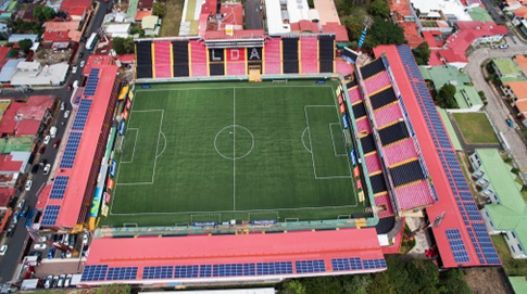 ABB and Enertiva turn on the lights at Costa Rica's first solar-powered football stadium