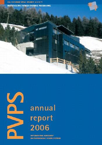 copertina Annual Report 2006 IEA PVPS