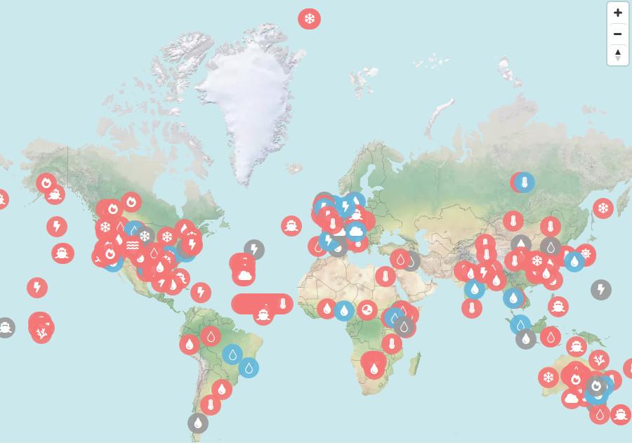 Cartina Meteorologica Dell Italia.In Una Mappa Tutti Gli Eventi Estremi Influenzati Dal Cambiamento Climatico Qualenergia It
